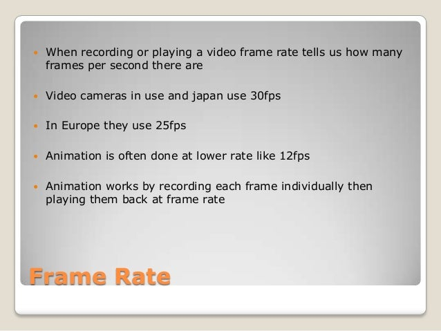 Frame rate powerpoint