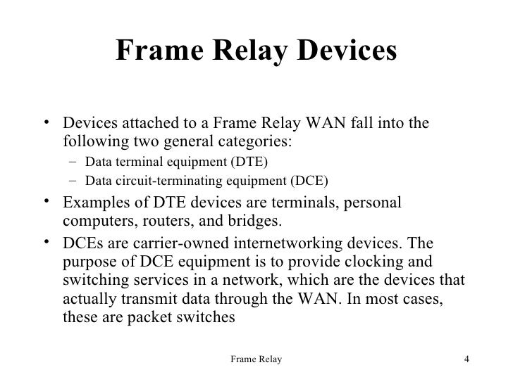 Frame Relay - Frame relay switch example