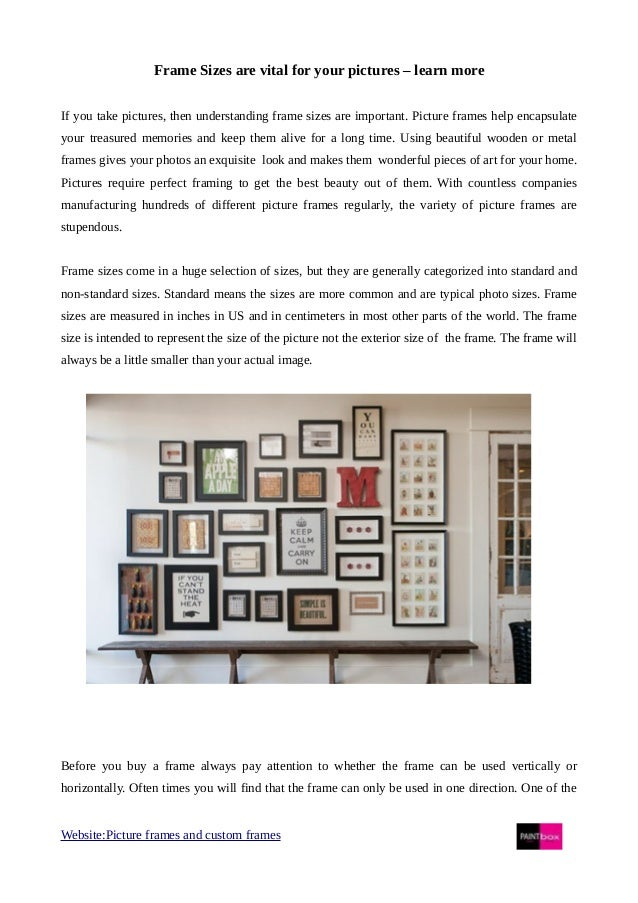 How to choose right picture frame