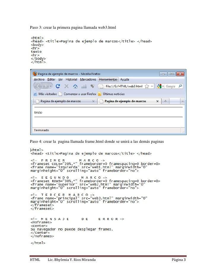 Frames y formularios en html
