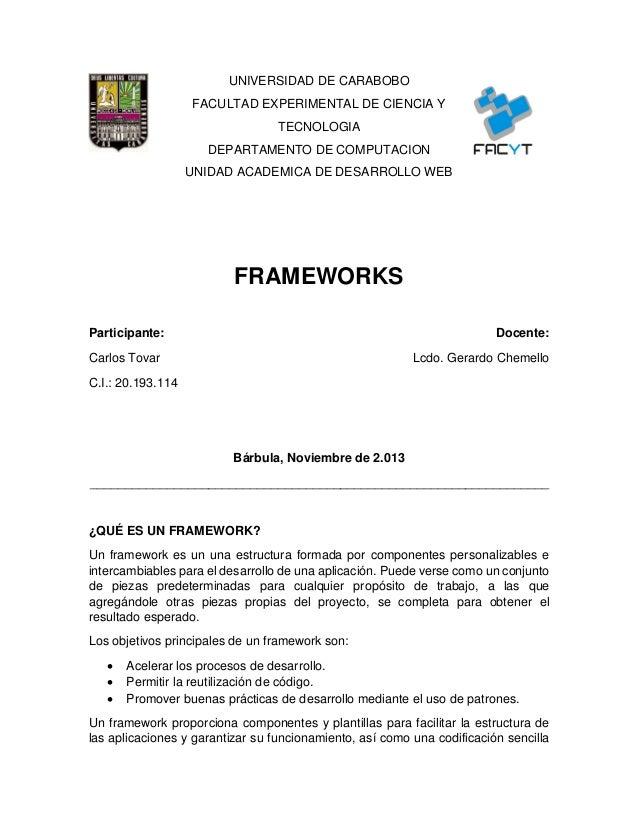 UNIVERSIDAD DE CARABOBO FACULTAD EXPERIMENTAL DE CIENCIA Y TECNOLOGIA DEPARTAMENTO DE COMPUTACION UNIDAD ACADEMICA DE DESA...