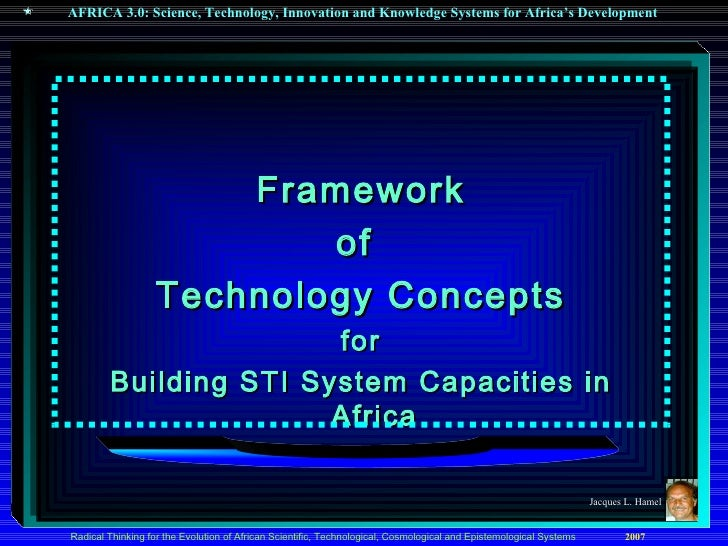 <ul><li>Framework </li></ul><ul><li>of  </li></ul><ul><li>Technology Concepts </li></ul><ul><li>for </li></ul><ul><li>Buil...