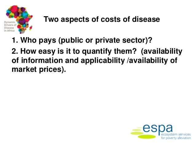 Framework for assessing the economic costs and burdens of