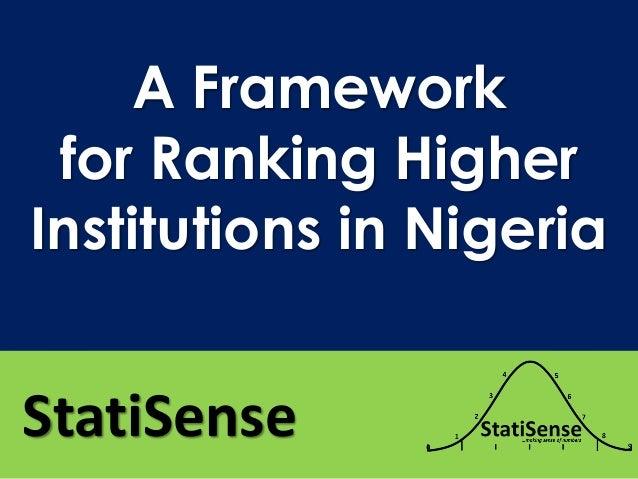 A Framework for Ranking Higher Institutions in Nigeria StatiSense