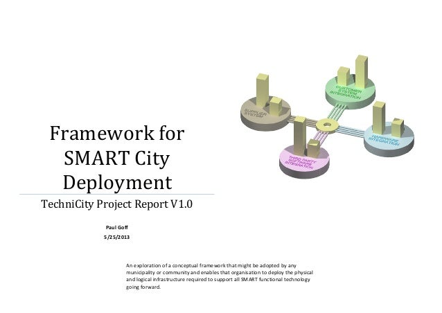Framework for SMART City Deployment TechniCity Project Report V1.0 Paul Goff 5/25/2013  An exploration of a conceptual fra...