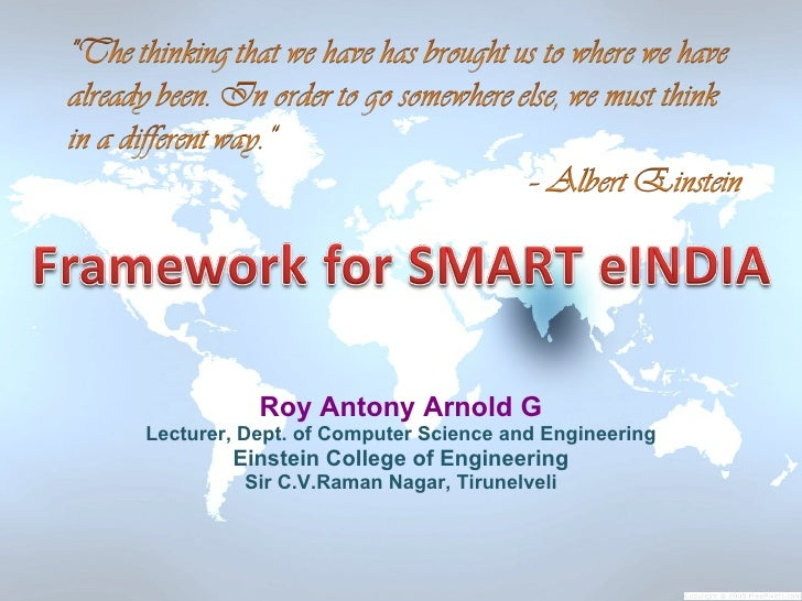 Roy Antony Arnold G Lecturer, Dept. of Computer Science and Engineering         Einstein College of Engineering          S...