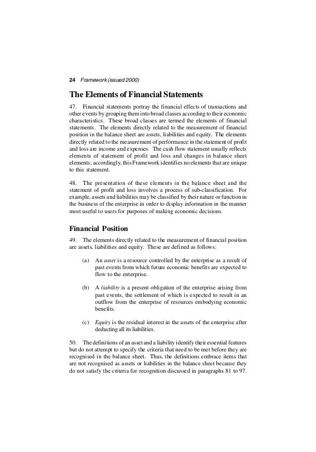 Framework For The Preparation And Presentation Of Financial Statement…