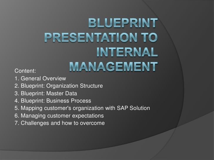 Framework of sap material management blueprint blueprint presentation to internal managementbr contentbr 1 malvernweather Gallery