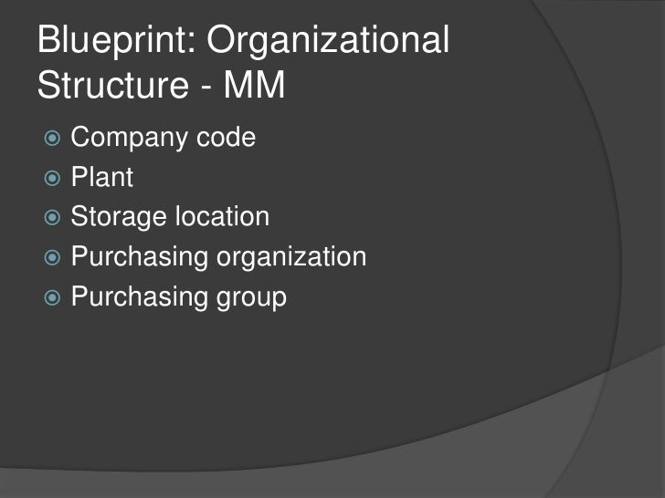 Framework of sap material management blueprint blueprint organizational malvernweather Image collections