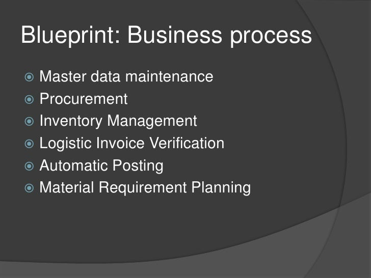 Framework of sap material management blueprint blueprint business malvernweather Choice Image