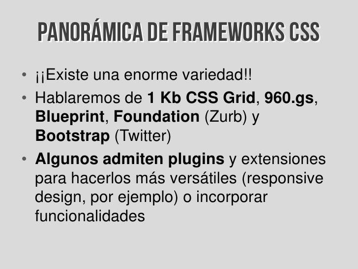 Introduccin a los frameworks css panormica de frameworks css 29 malvernweather Choice Image