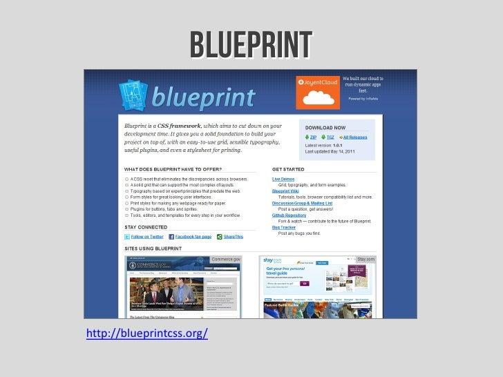 Introduccin a los frameworks css blueprinthttpblueprintcss malvernweather Choice Image