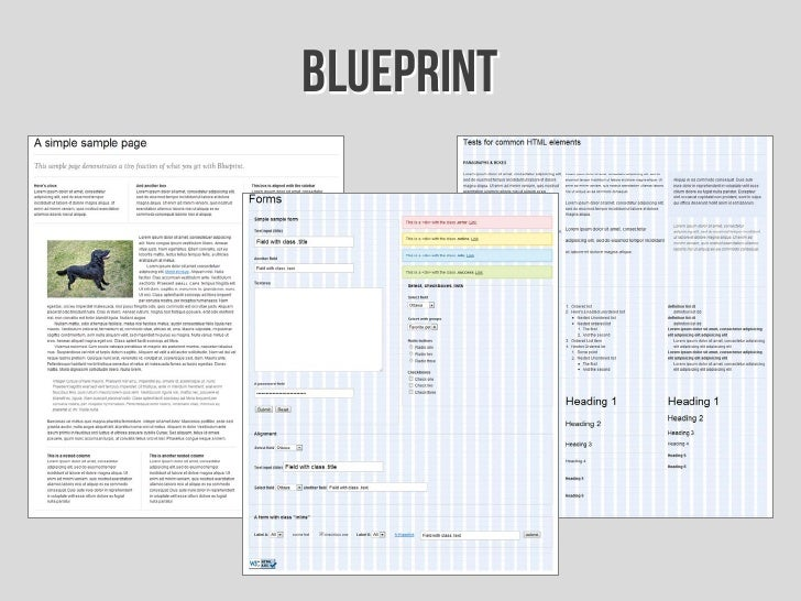 Introduccin a los frameworks css 43 blueprint malvernweather Image collections