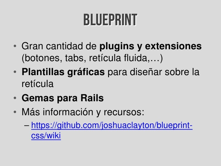 Introduccin a los frameworks css 44 blueprint malvernweather Image collections