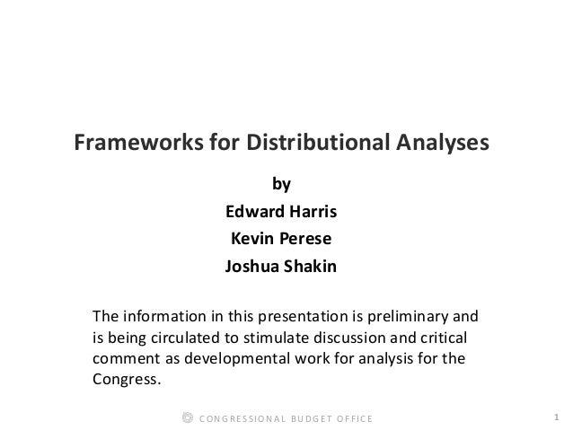 Frameworks for Distributional Analyses Slide 2