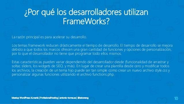 III Meetup WordPress Almería | Framework themes