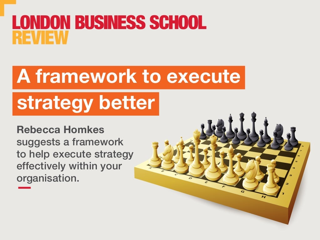 A framework to execute strategy better | London Business School