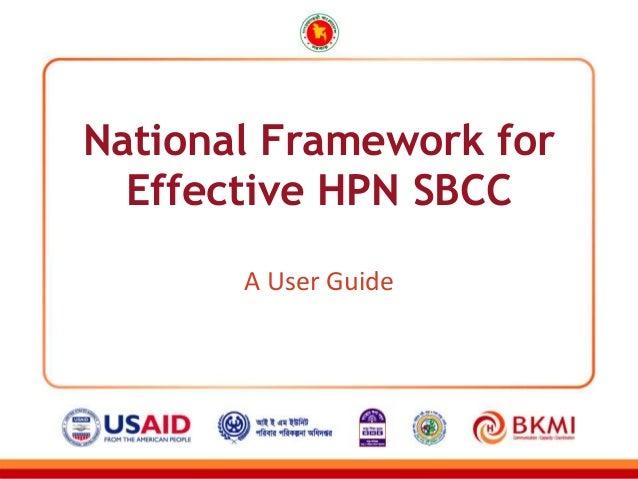 National Framework for Effective HPN SBCC A User Guide