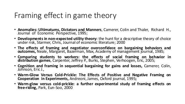 Framing effect studies