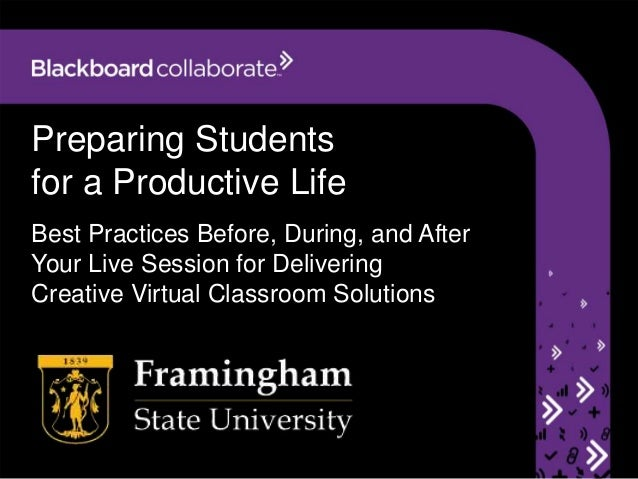 Preparing Students for a Productive Life Best Practices Before, During, and After Your Live Session for Delivering Creativ...