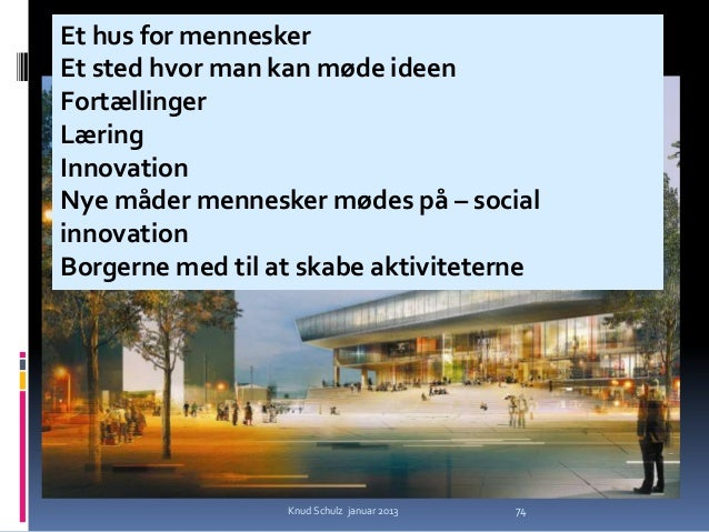 Urban MediaspaceSchmidt, Hammer & Lassen                Knud Schulz januar 2013   75