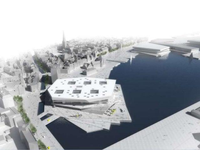 Multimediehuset somomdrejningspunkt for enflytning af byen – hvor byenved vandet bliver den nyescenografiRationaleByens hi...