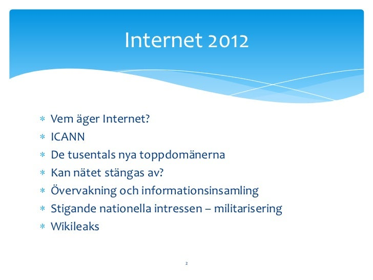 vem äger internet