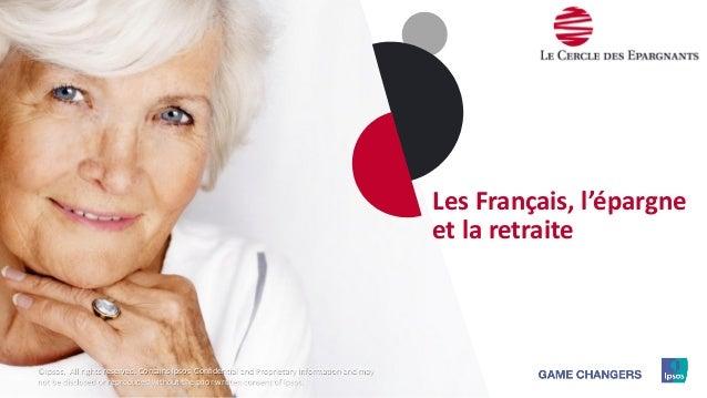 1111111111 Les Français, l'épargne et la retraite ©Ipsos. All rights reserved. Contains Ipsos' Confidential and Proprietar...