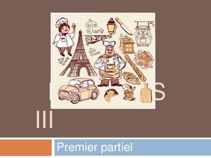 FRANÇAISIII Premier partiel