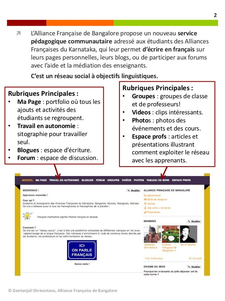2          L'Alliance Française de Bangalore propose un nouveau service           pédagogique communautaire adressé aux é...