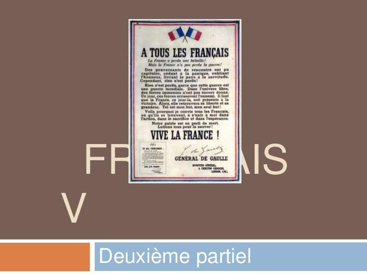 FRANÇAISV Deuxième partiel