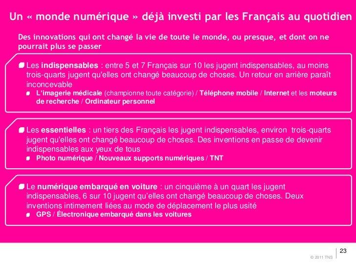 Un « monde numérique » déjà investi par les Français au quotidien Des innovations qui ont changé la vie de toute le monde,...