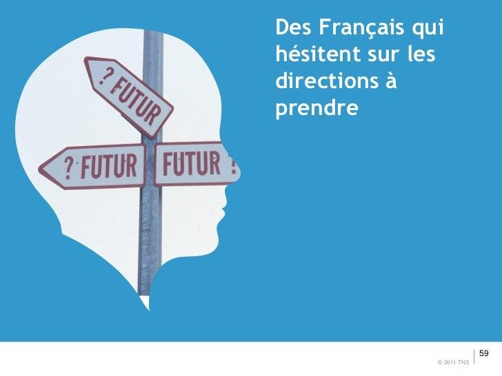 Des Français quihésitent sur lesdirections àprendre                            59               © 2011 TNS