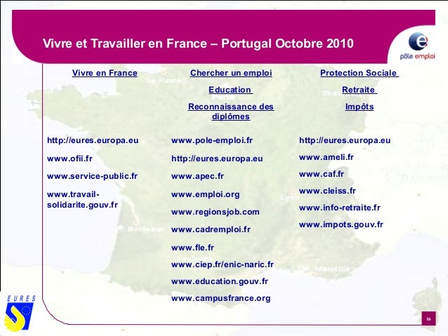 living and working in france in 2010  presented by eures