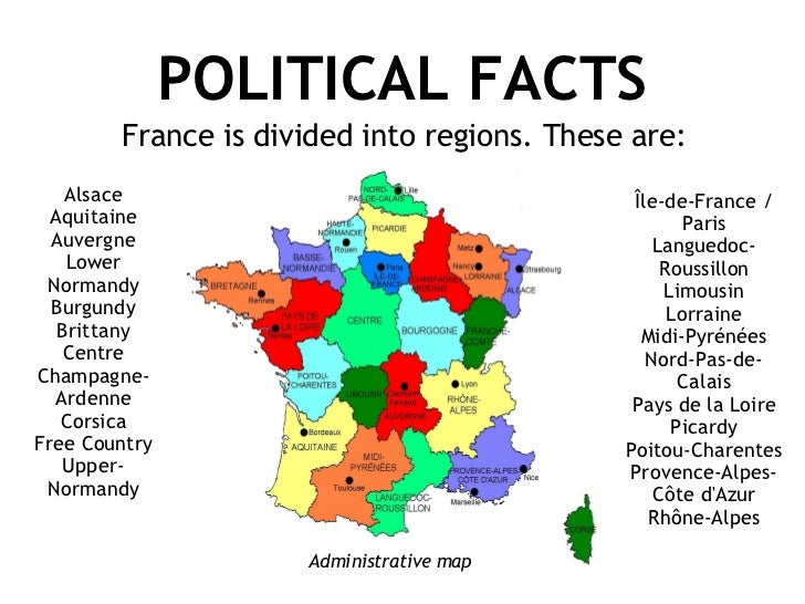Map Of France Facts.France