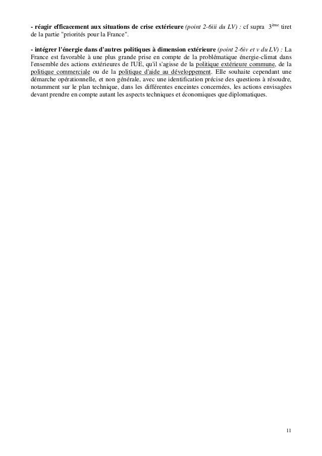 """11 - réagir efficacement aux situations de crise extérieure (point 2-6iii du LV) : cf supra 3ème tiret de la partie """"prior..."""
