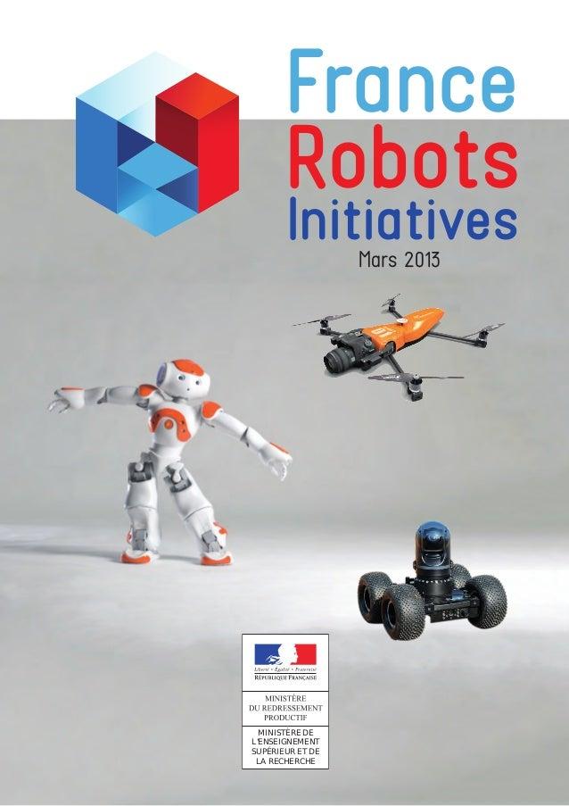 MINISTÈRE DE L'ENSEIGNEMENT SUPÉRIEUR ET DE LA RECHERCHE France Robots InitiativesMars 2013