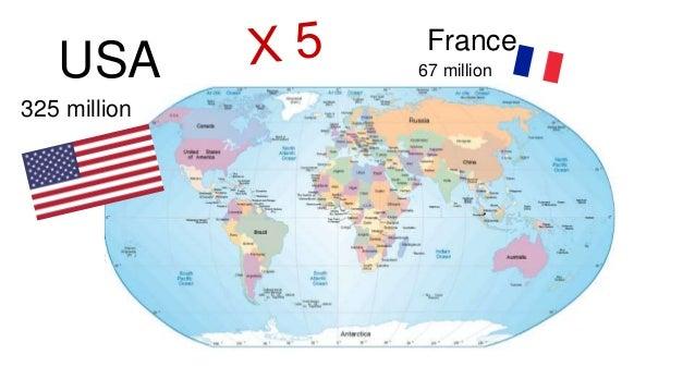 France 67 million 325 million USA
