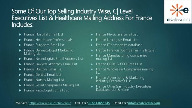 France Mailing List | France Business Emails | France B2B