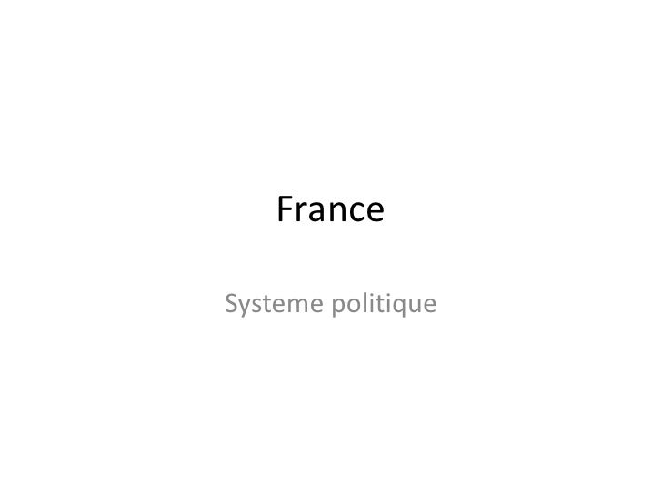 France<br />Systemepolitique<br />