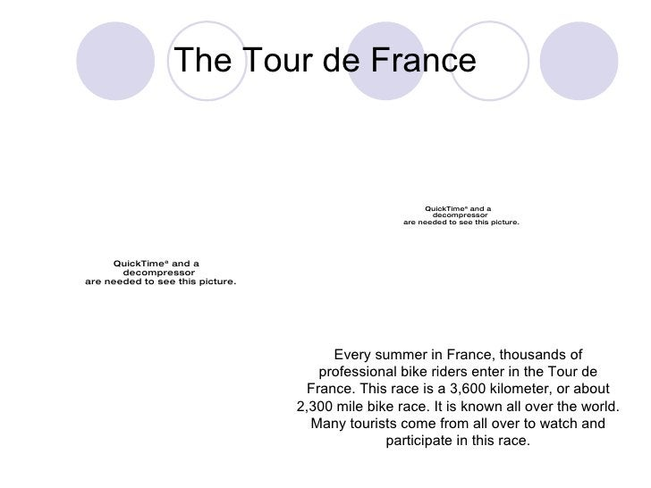 The Tour de France Every summer in France, thousands of professional bike riders enter in the Tour de France. This race is...
