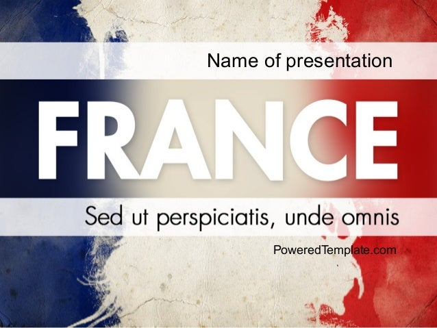 france presentation powerpoint template by poweredtemplatecom
