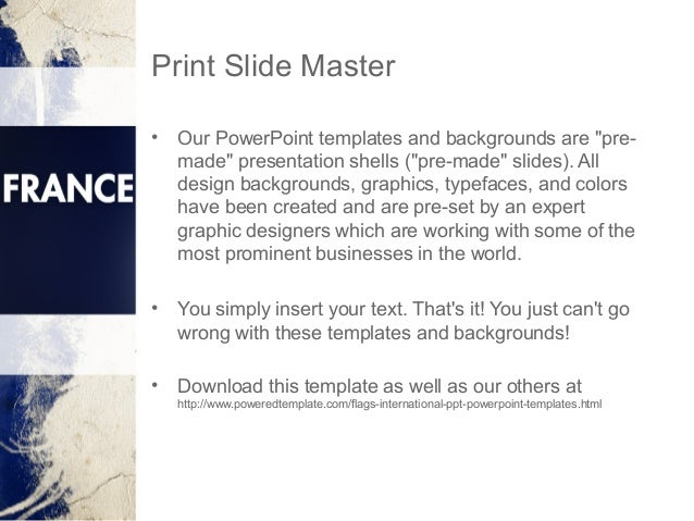 france presentation powerpoint template by poweredtemplate com