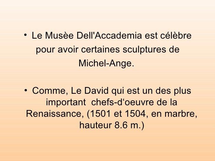 "Le musée ""Dell'Accademia"" Slide 3"