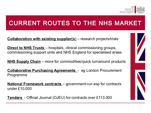 Nhs supply chain tenders dating 5