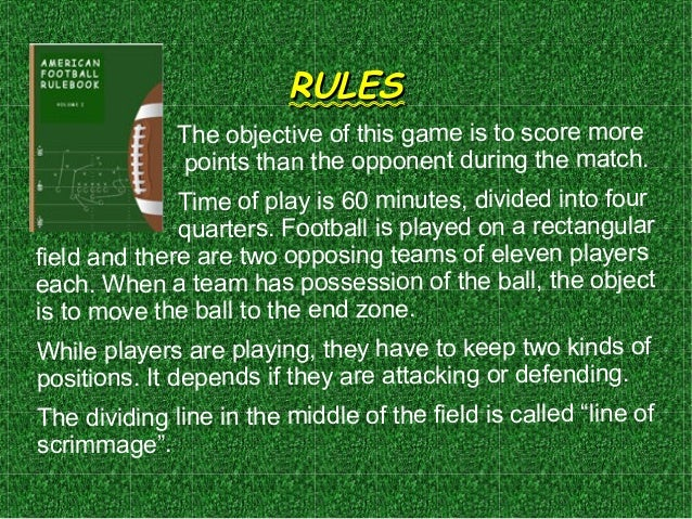 the rules of american football