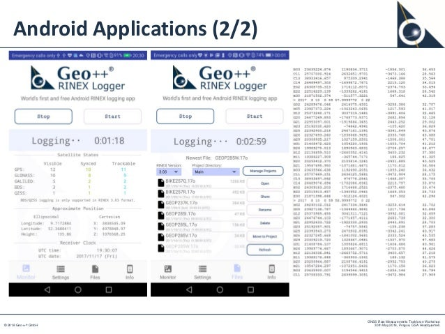 Geo++'s Experiments on Android GNSS Raw Data