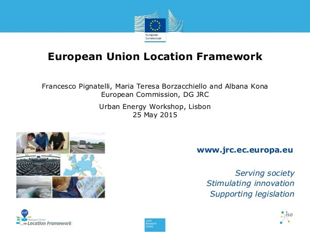www.jrc.ec.europa.eu Serving society Stimulating innovation Supporting legislation European Union Location Framework Franc...