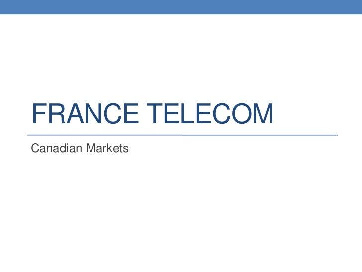 FRANCE TELECOMCanadian Markets