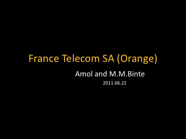 france telecom sa  orange  kaist mba